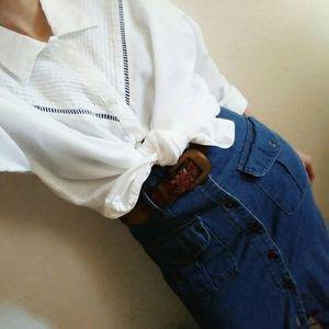 Vintage 80's/90's GITANO White Western Shirt